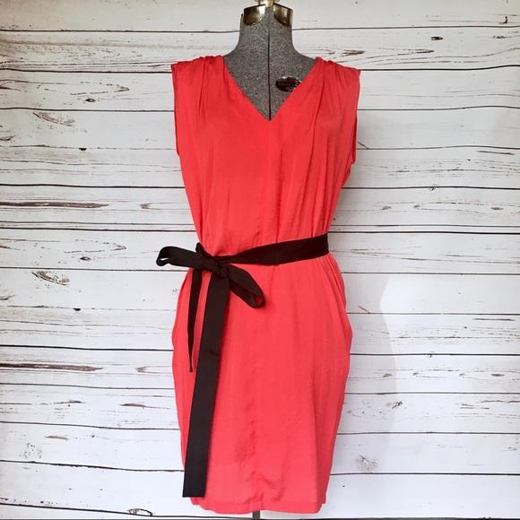 e163da74 Zara Dresses | Red Dress With Black Tie Belt | Poshmark